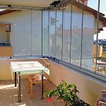 8mm balcony glass for villa in Payallar