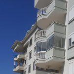 Остекление балкона сложной формы - Uygun апартмент - Аланья