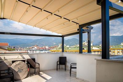 Автоматический тент для балкона и террасы