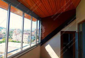 Остекление друхуровневой квартиры в Газипаше Tiara Twinmax